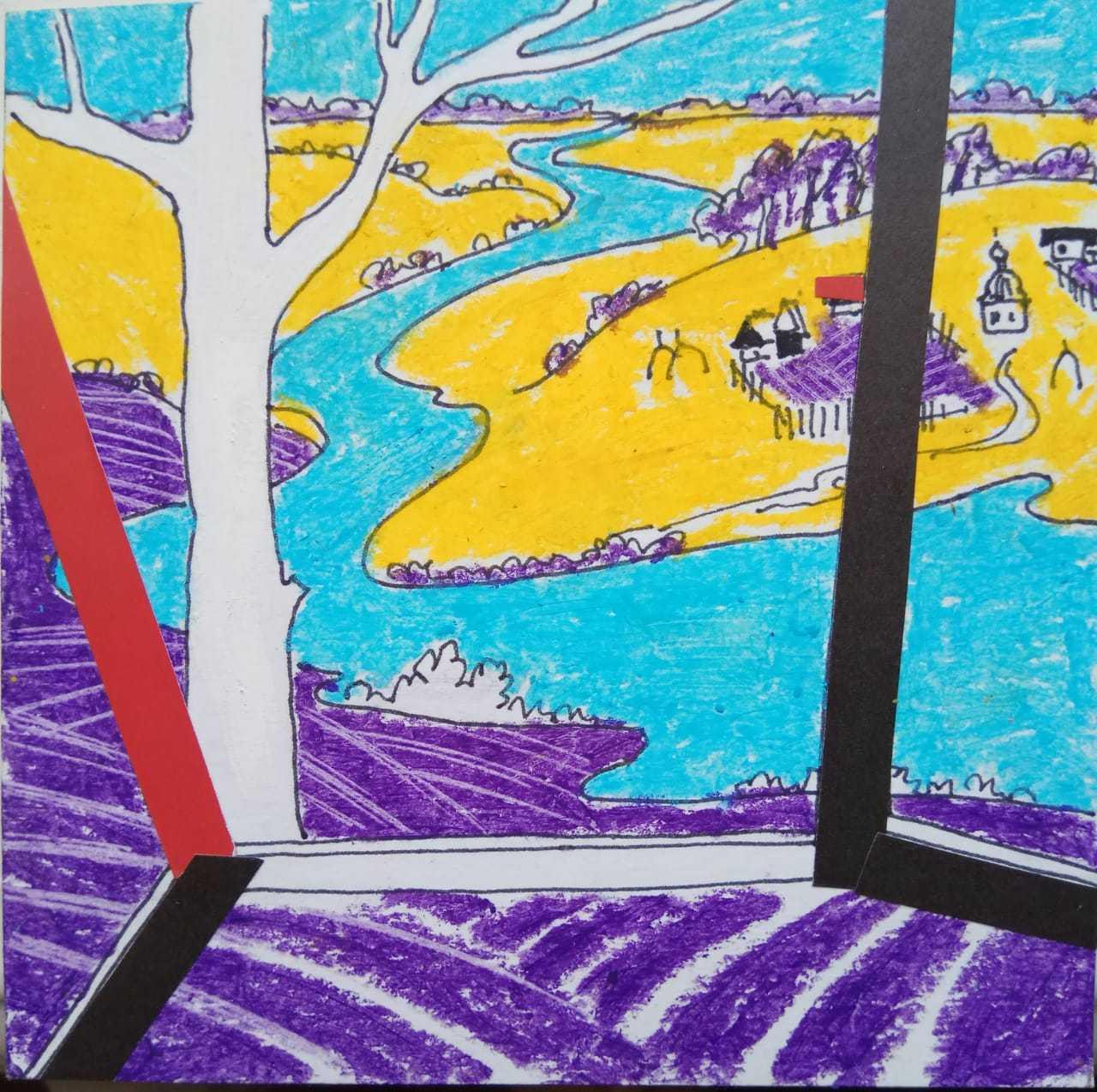 Дружкова Евгения / тема «Поэзия»: Осенняя пора очей очарованье…»  А. С. Пушкин /смешанная техника