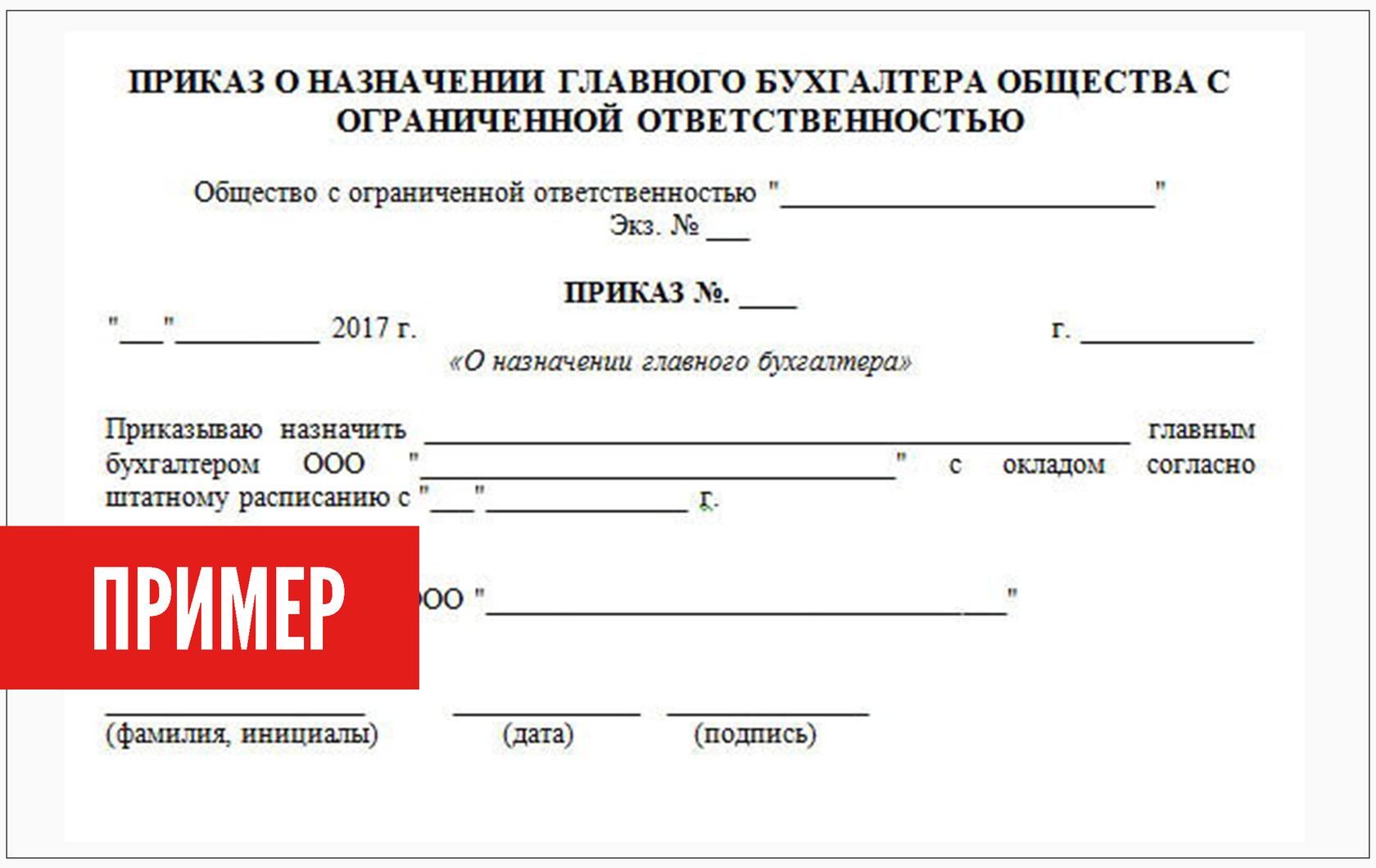 Регистрация главного бухгалтера в ооо доверенность от ип бухгалтеру