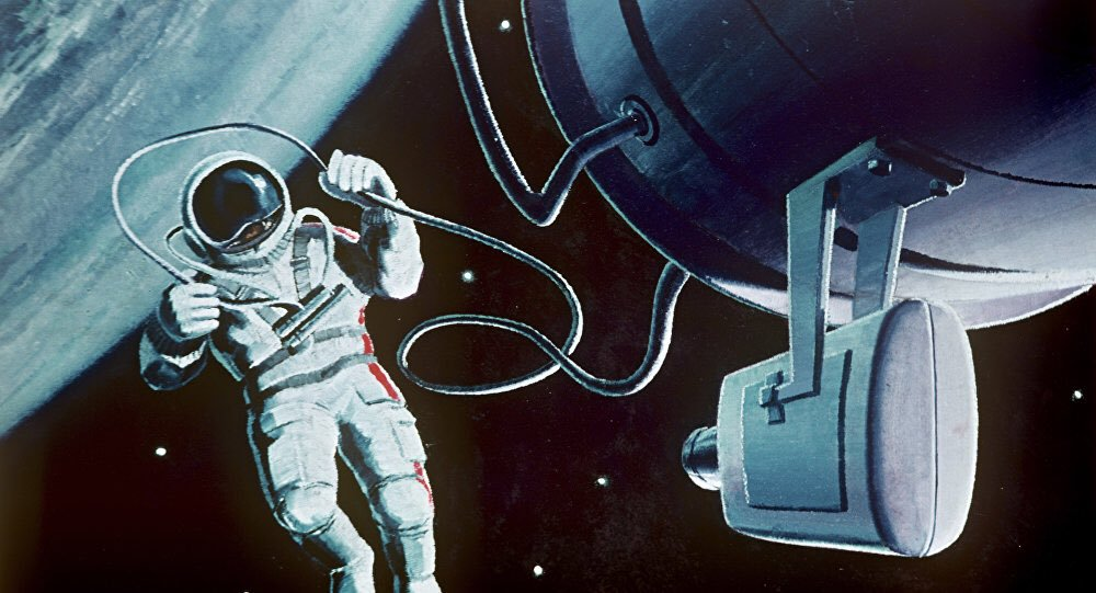 картинки леонова выход в открытый космос