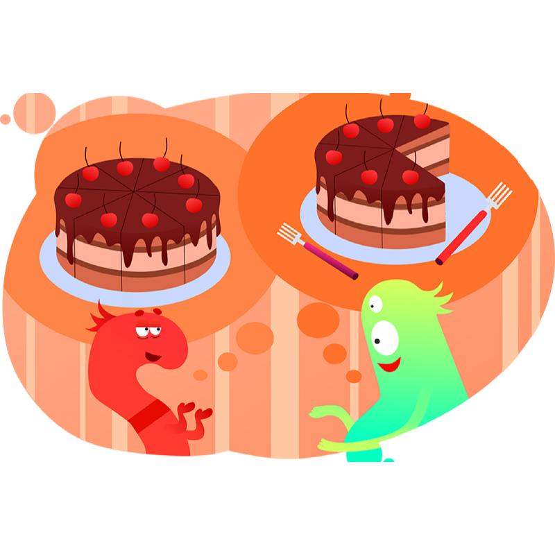 Цифры и решение пропорции на примере торта