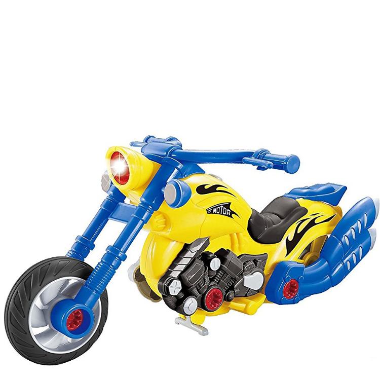 Развивающий детский конструктор с дрелью LampStory мотоцикл
