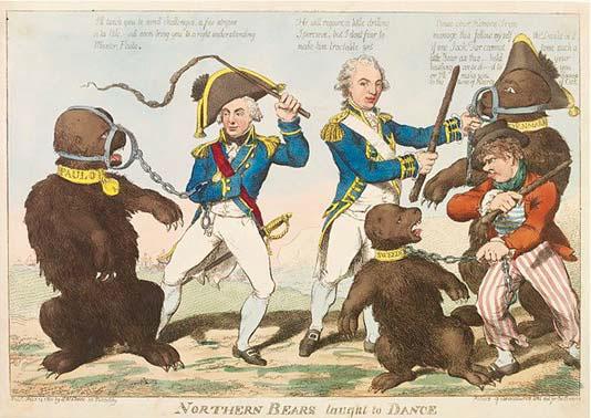 Чарльз Уильямс. Северных медведей обучают танцам. 14 февраля 1801 г. Лондон