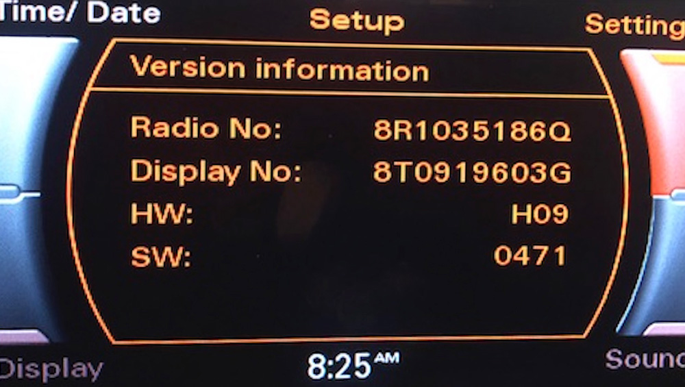 audi, Concert, Symphony, system, radio, head, unit, screen, lcd, menu, software, version, update, how to, install