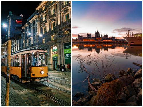 Милан и Будапешт в декабре
