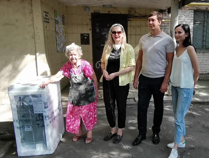 партия шария в киеве подарила стиральную машину - фото