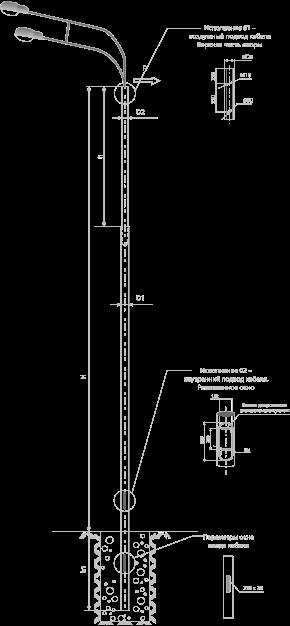 Опоры силовые прямостоечные трубные тип CП