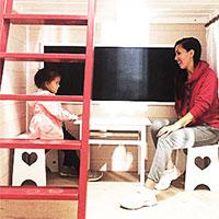 Меловая доска в детский домик