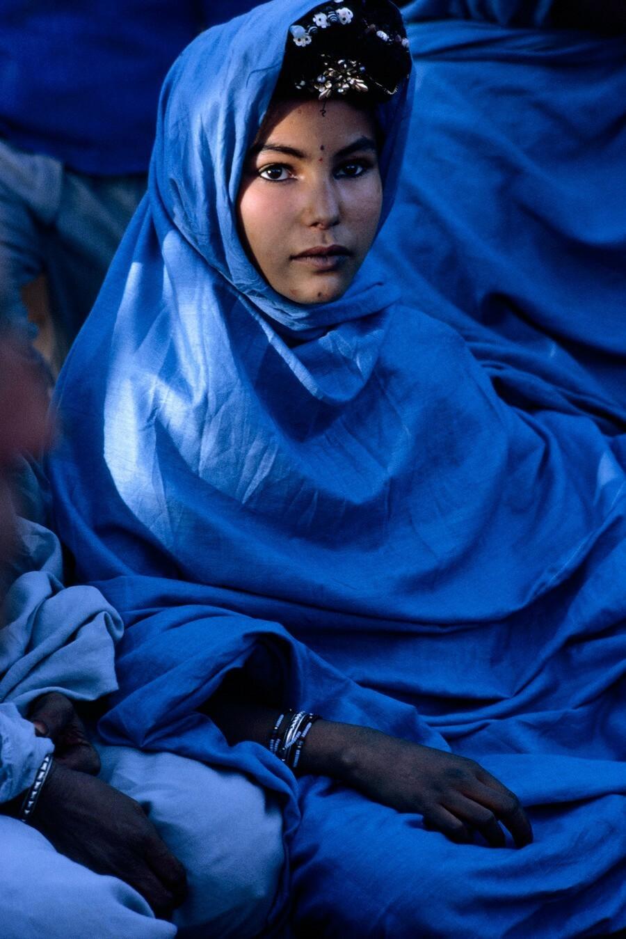 Женщина из кочевого племени в Алжире, 1967. Фотограф Джонатан Блэр
