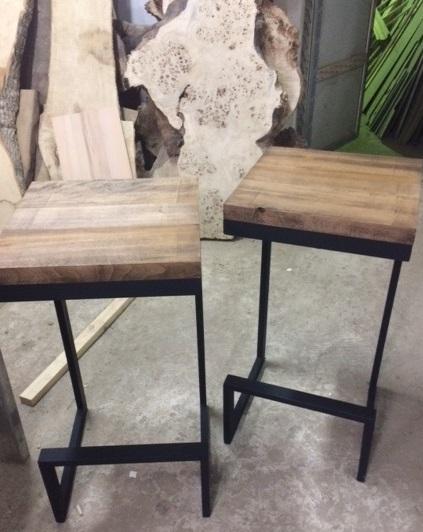 Лофт, LOFT Барные стулья из бука, массив