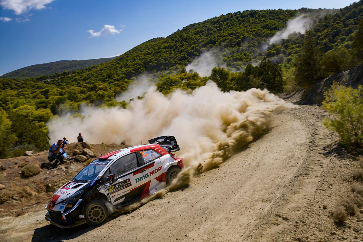 Элфин Эванс и Скотт Мартин, Toyota Yaris WRC, ралли Акрополь 2021