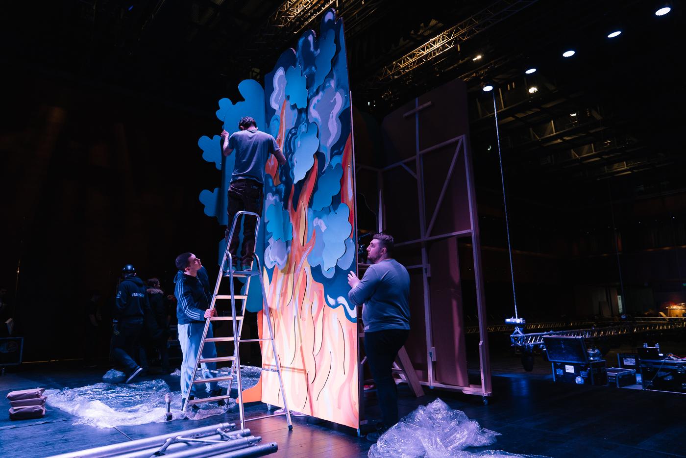 художник театра фото обращаемая плёнка, сбалансированная