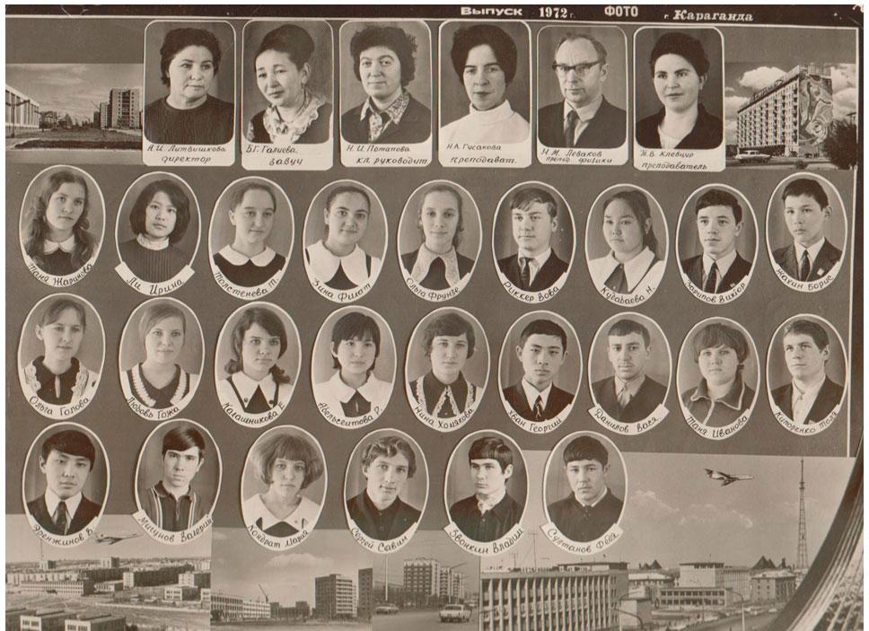 10  КЛАСС 1972 г.  Кл. рук. Потапова Н.И.