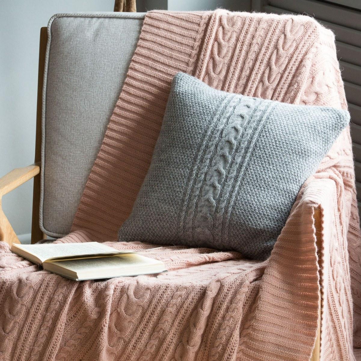 Фото вязаные чехлы на подушечки