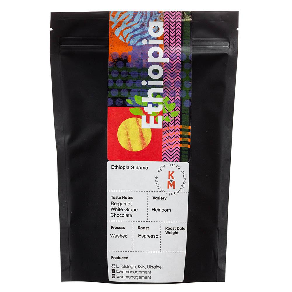 Кава в зернах Арабіка Ефіопія Сідамо