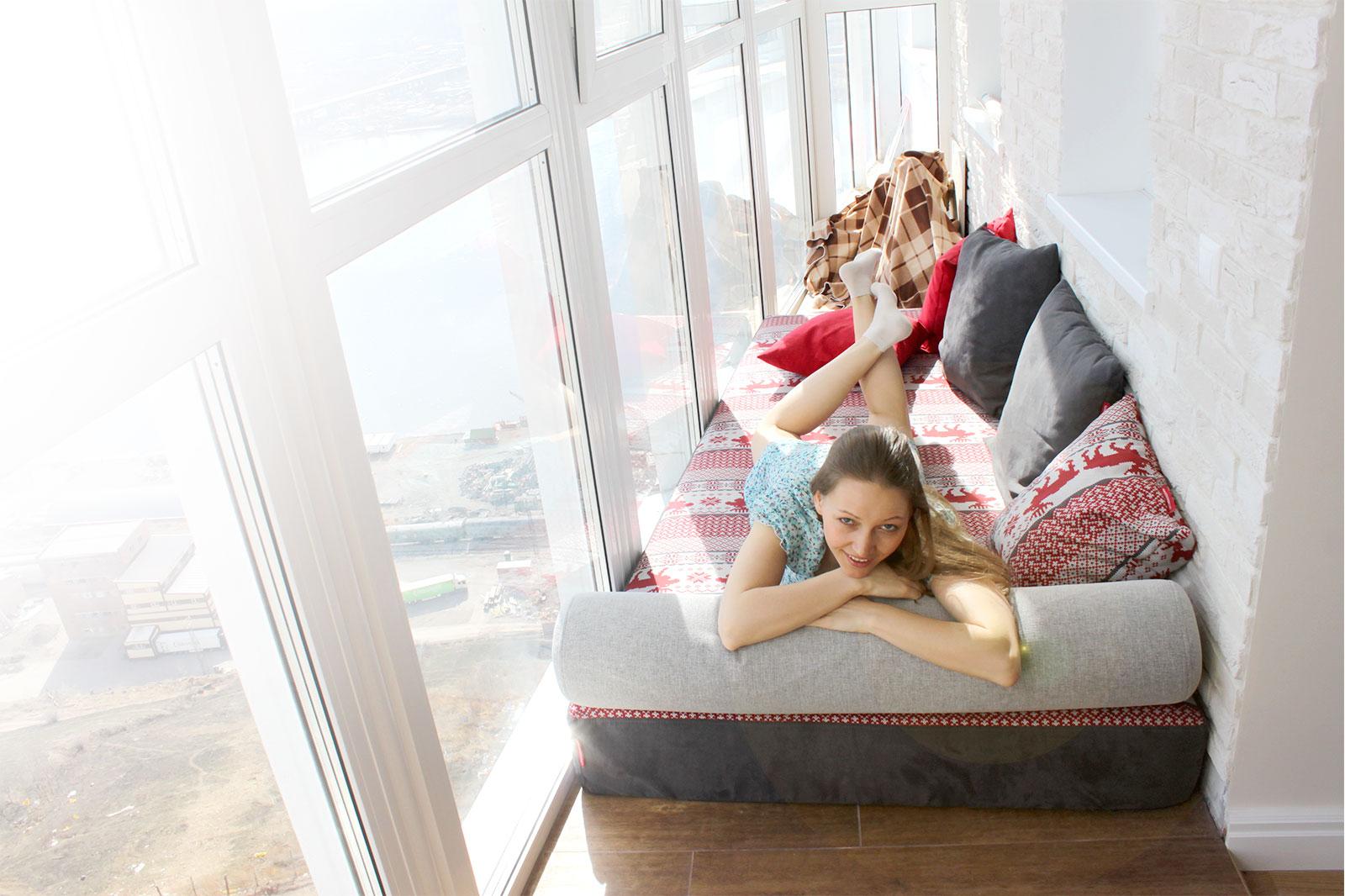 Модульный диван на балкон или лоджию.