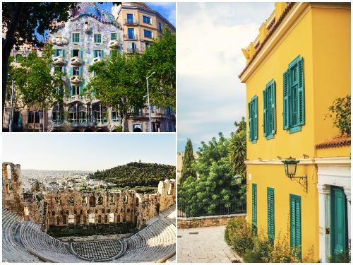 Афины и Барселона в феврале