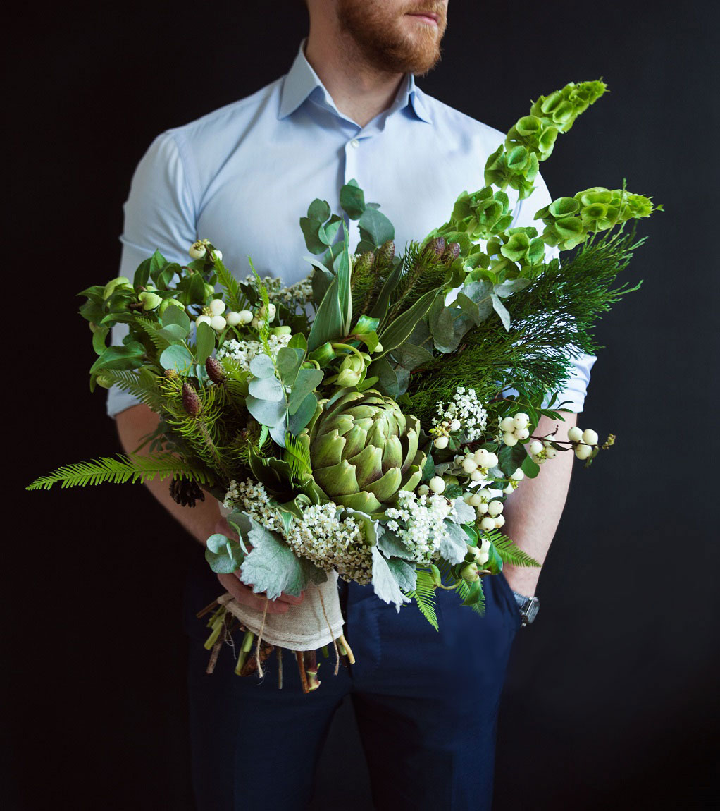 Отходов букет, цветы в мужской букеты