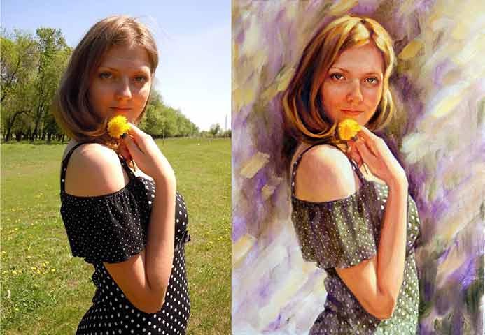 как сделать из фото художественную картину