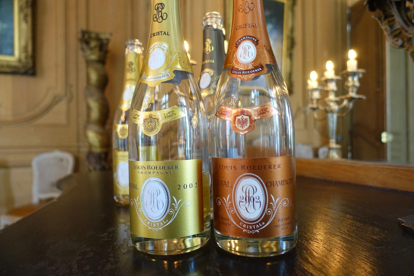 Champagne Louis Roederer 2002 Cristal and Cristal Rosé
