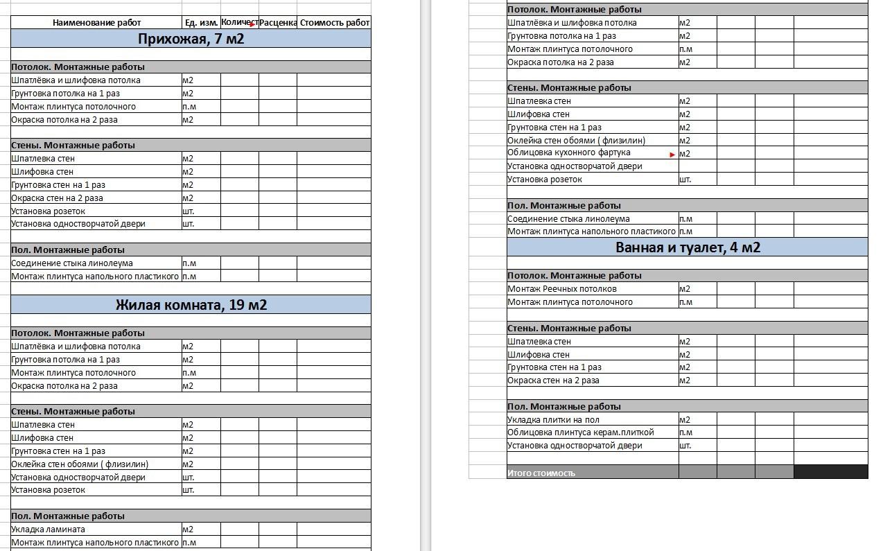 документы подтверждающие сметную стоимость на строительные материалы