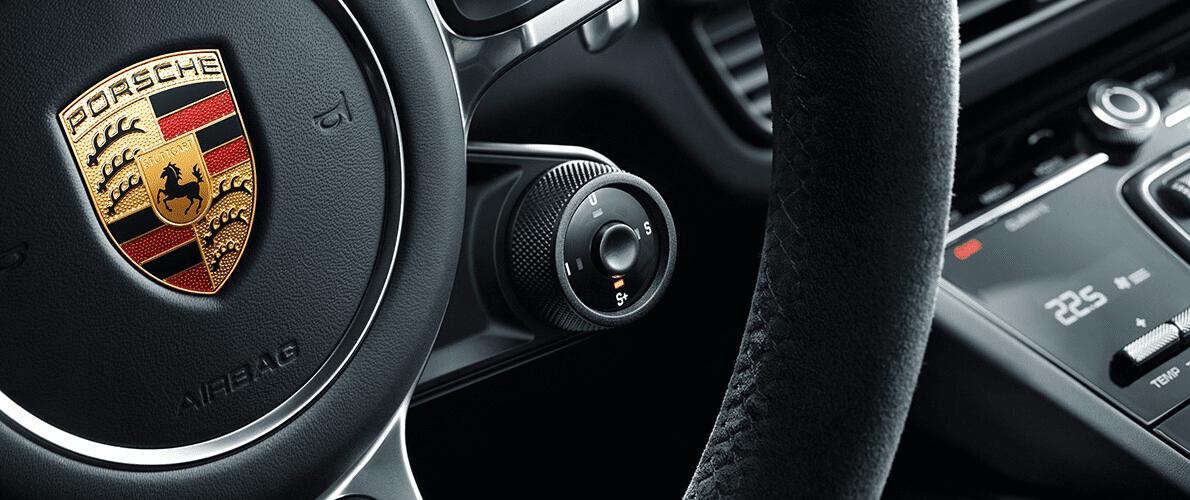 Данная кнопка, расположенная в центре подрулевой шайбы, дает прирост мощности на 20 секунд.