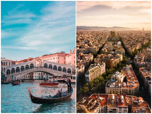 Венеция и Барселона в ноябре