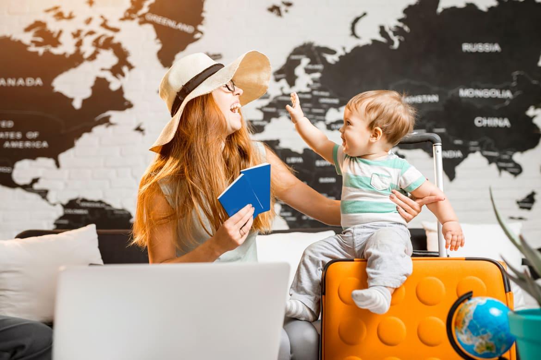 Как выехать с ребёнком за границу?