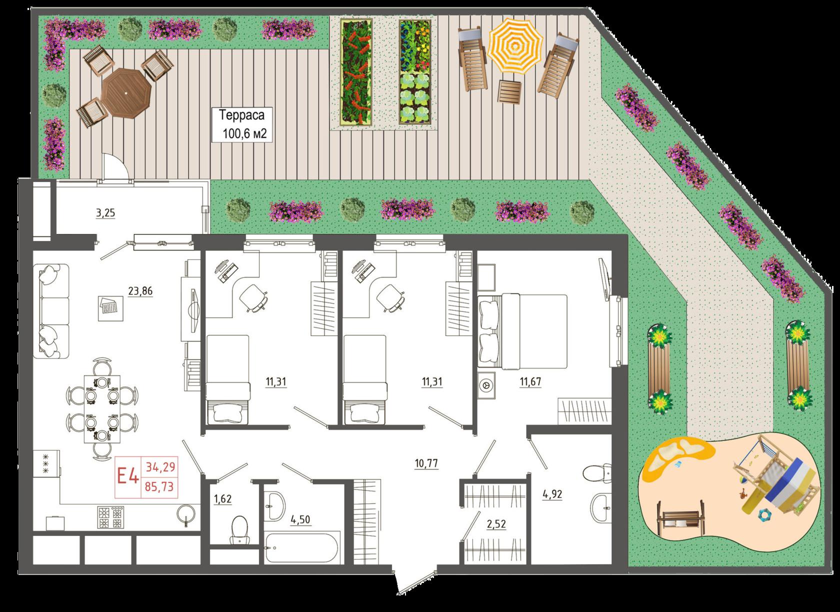 Квартиры с террасой
