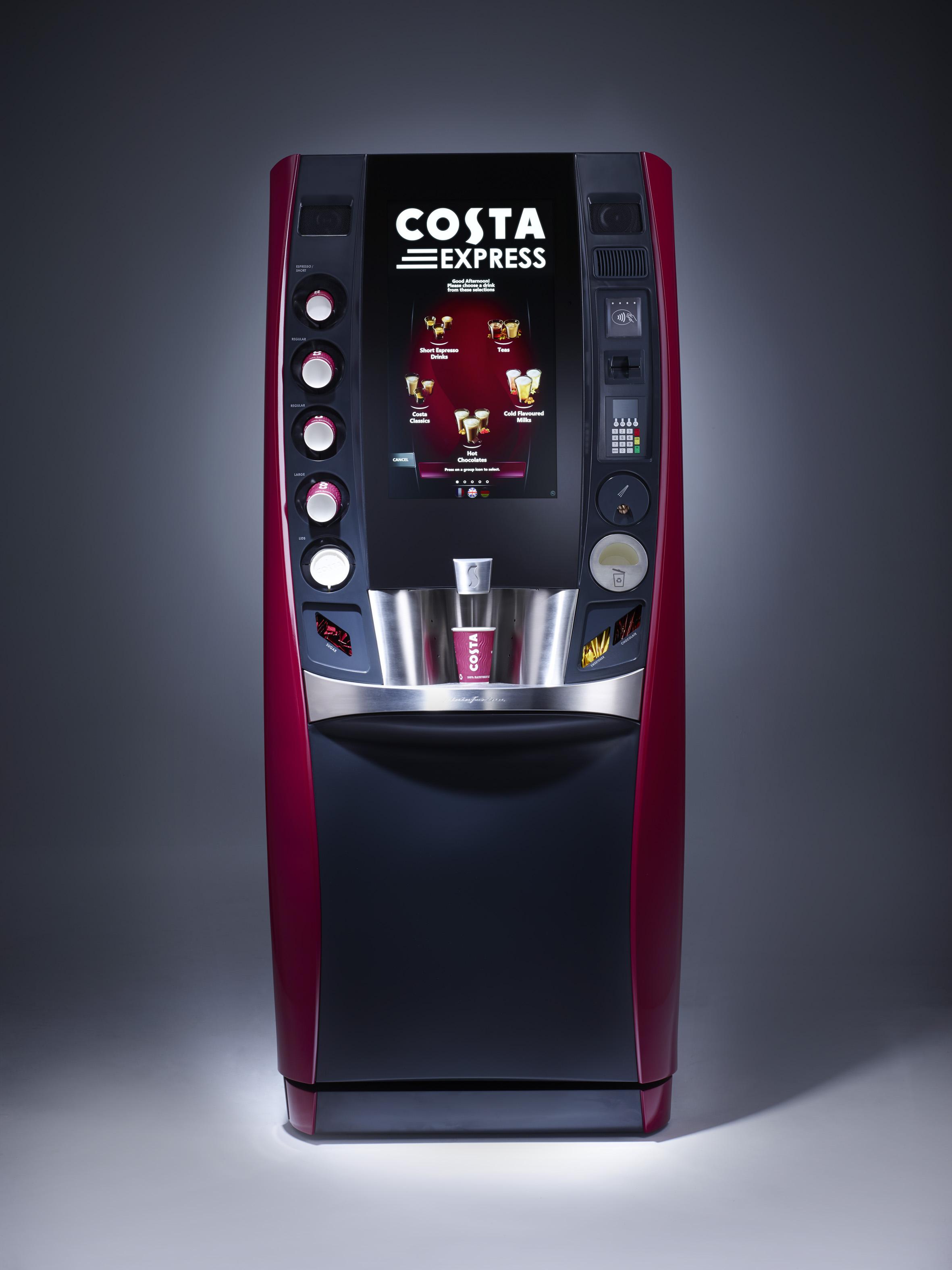 фото кофе аппарата вендингового сенсорный винтажную стилистику