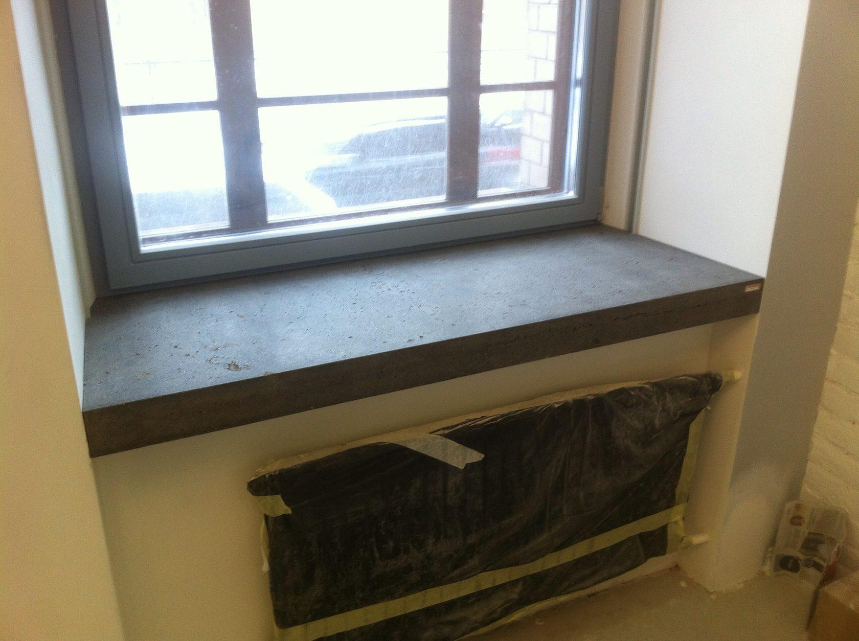 подоконные бетонные блоки фото