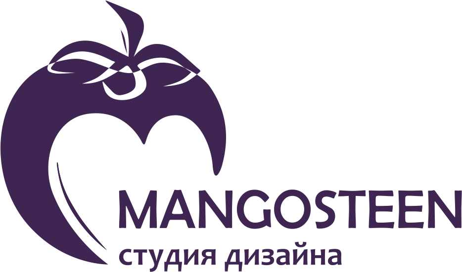 Логотип студии дизайна Mangosteen