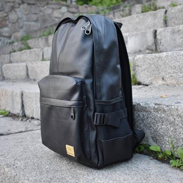 Рюкзак Three-box из экокожи