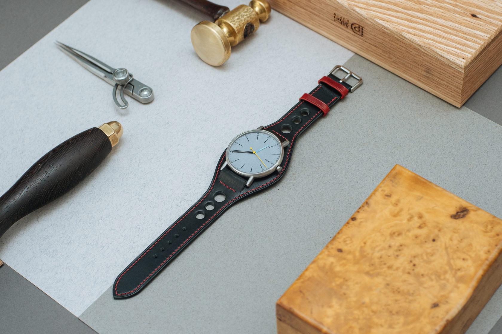 Ремешок для часов в стиле Ралли из кожи на заказ