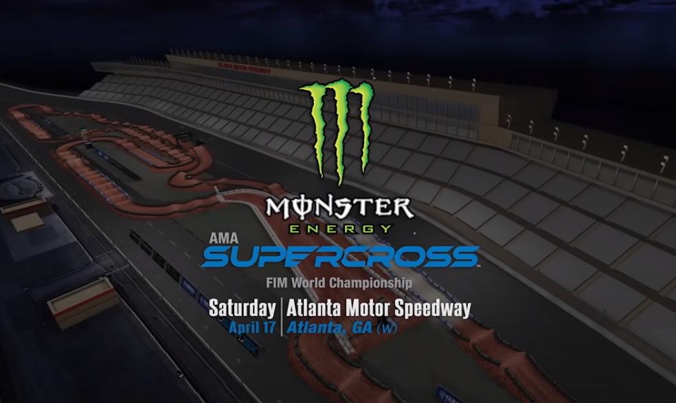 АМА Суперкросс 2021: Анимация трека – Атланта 3