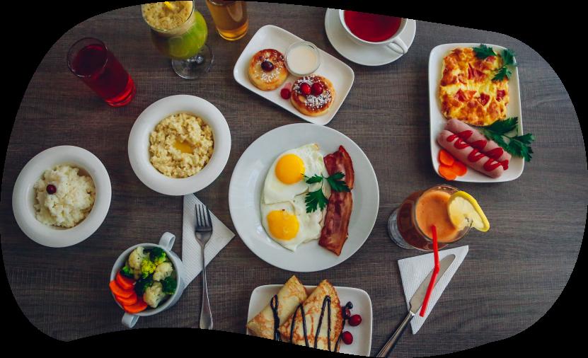 Вкусный завтрак прямо со сковороды