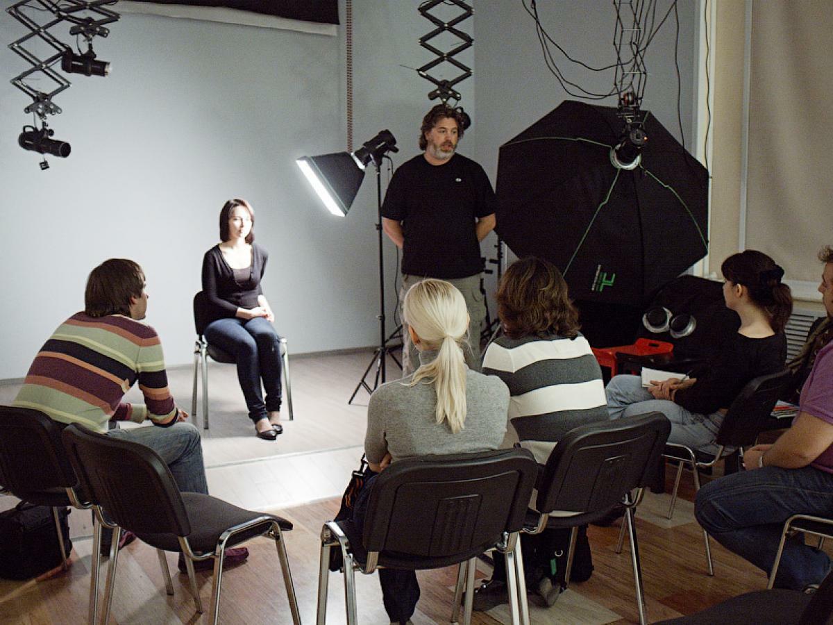 Лекция на курсах по фотографии