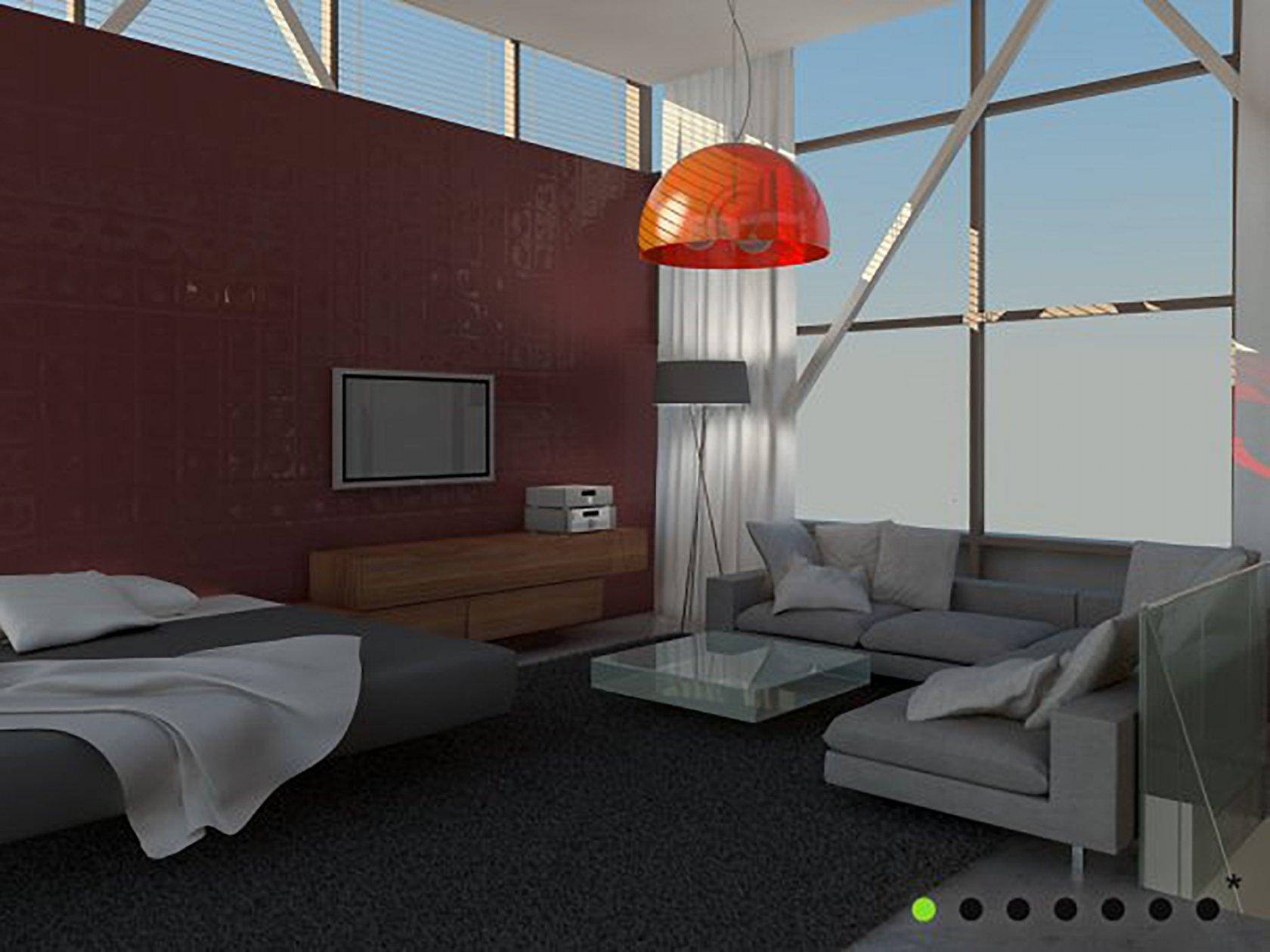 pyramide auf dem dach eines hochhauses. Black Bedroom Furniture Sets. Home Design Ideas