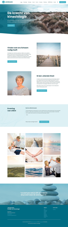 Website ontwerp home pagina Jolanda Kloet | Praktijk voor kinesiologie