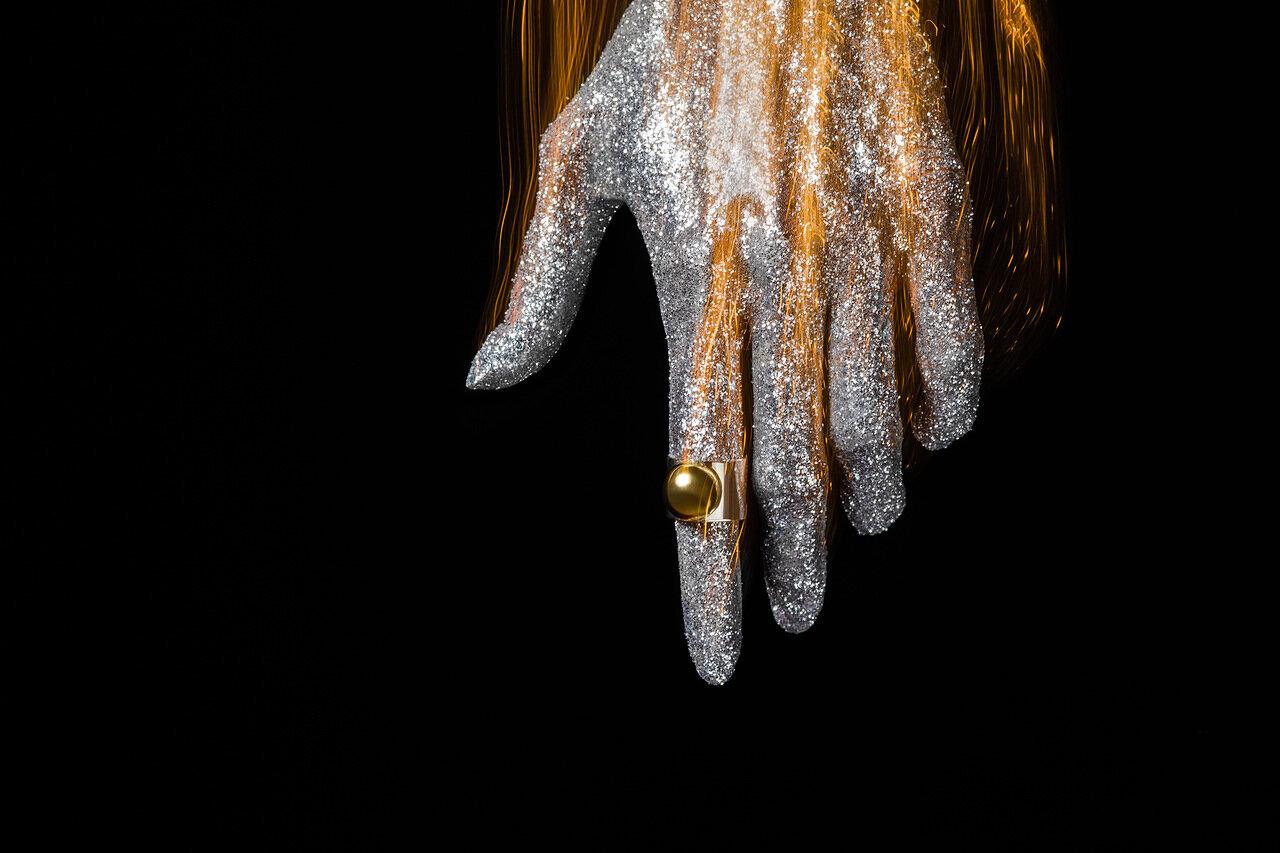 Яркие высказывания. Кольцо серебро и золото. Крупные креативные украшения.