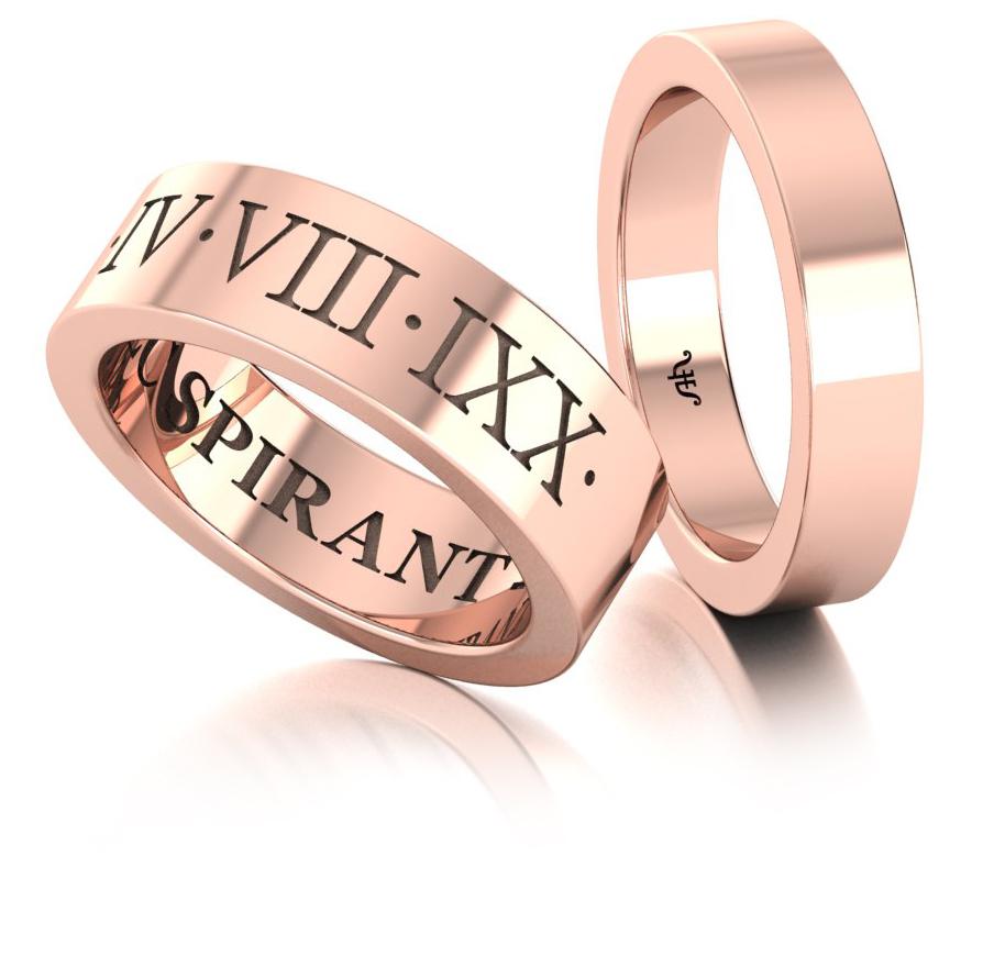 Классические обручальные кольца из красного золота купить и заказать в Москве ювелирная студия Виктора Шадрина