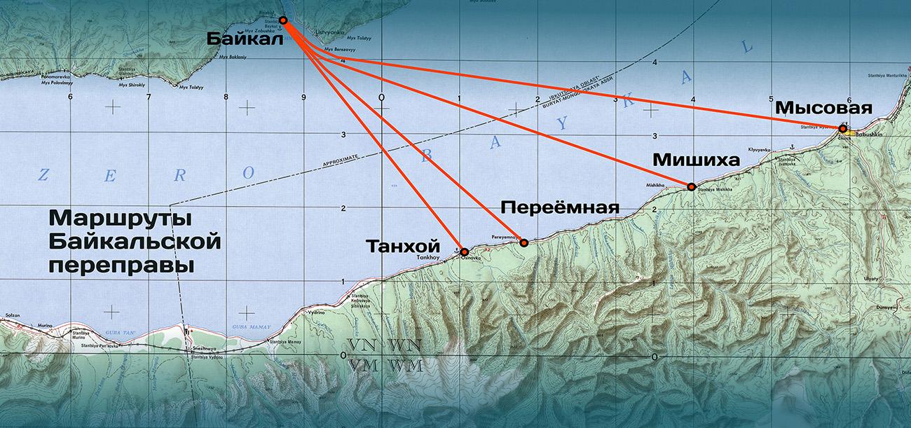 маршруты Байкальской переправы