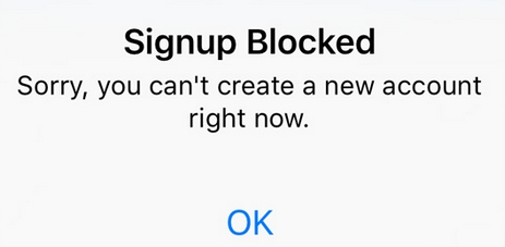 Fix: Instagram – Sign up Blocked