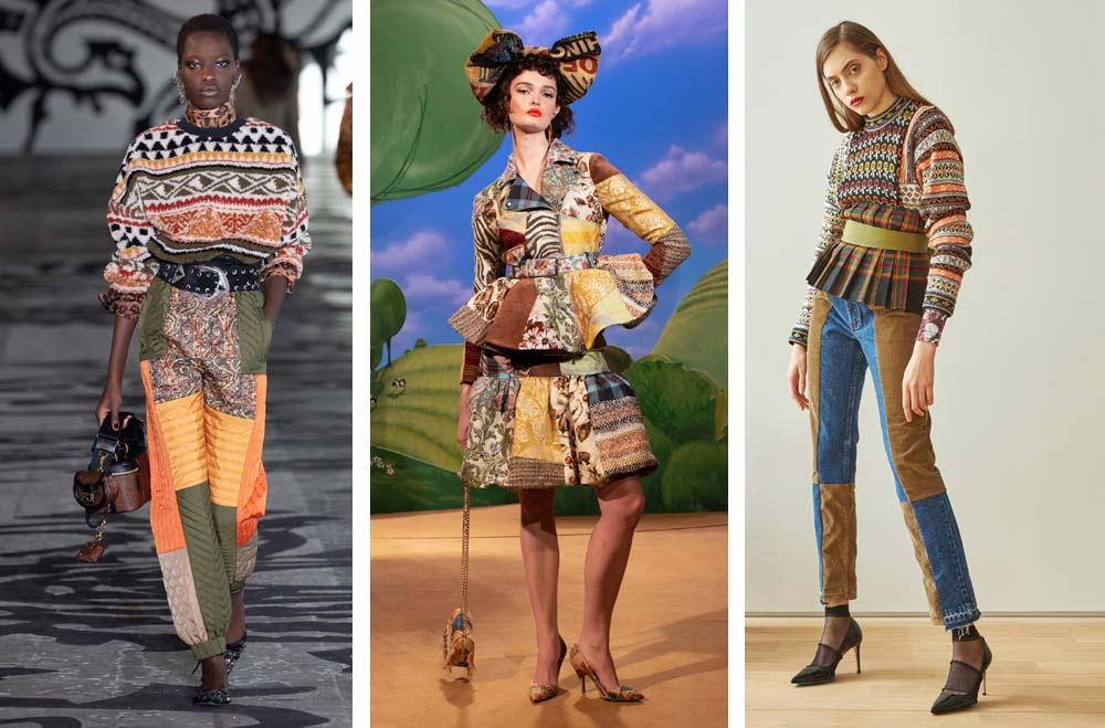 Collage Therapy е смела модна тенденция за есента и зимата на 2021 и 2022 според Vogue.