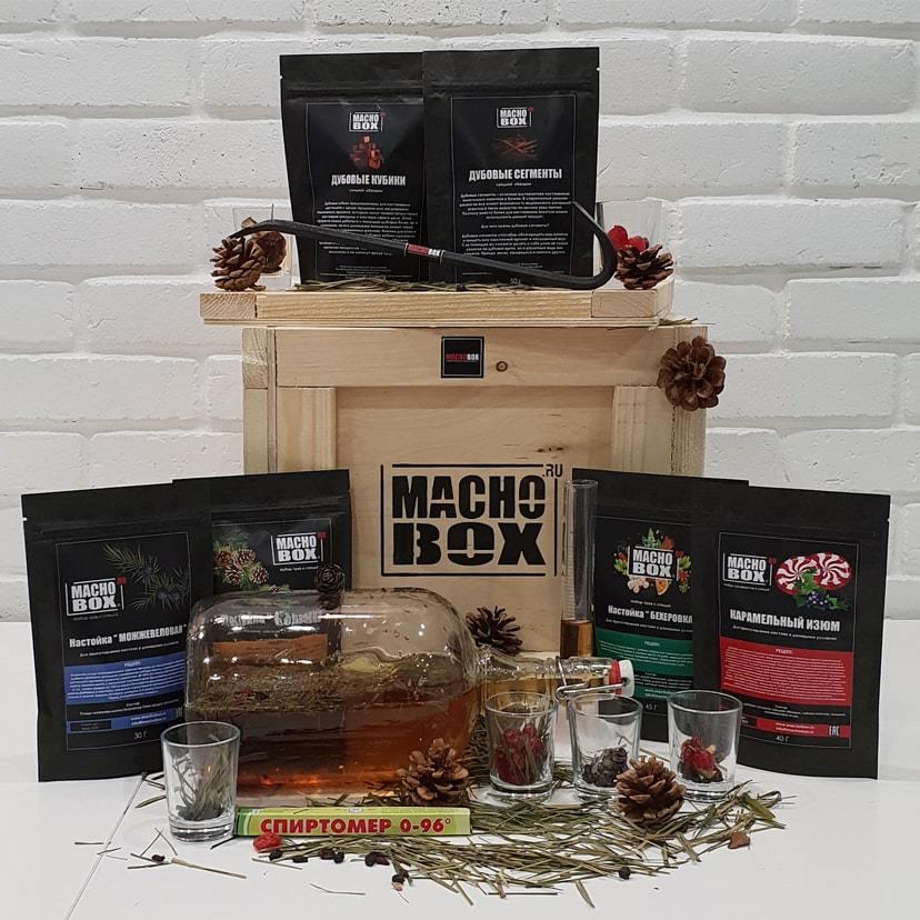 Набор для приготовления настоек в подарок мужчине от Macho Box
