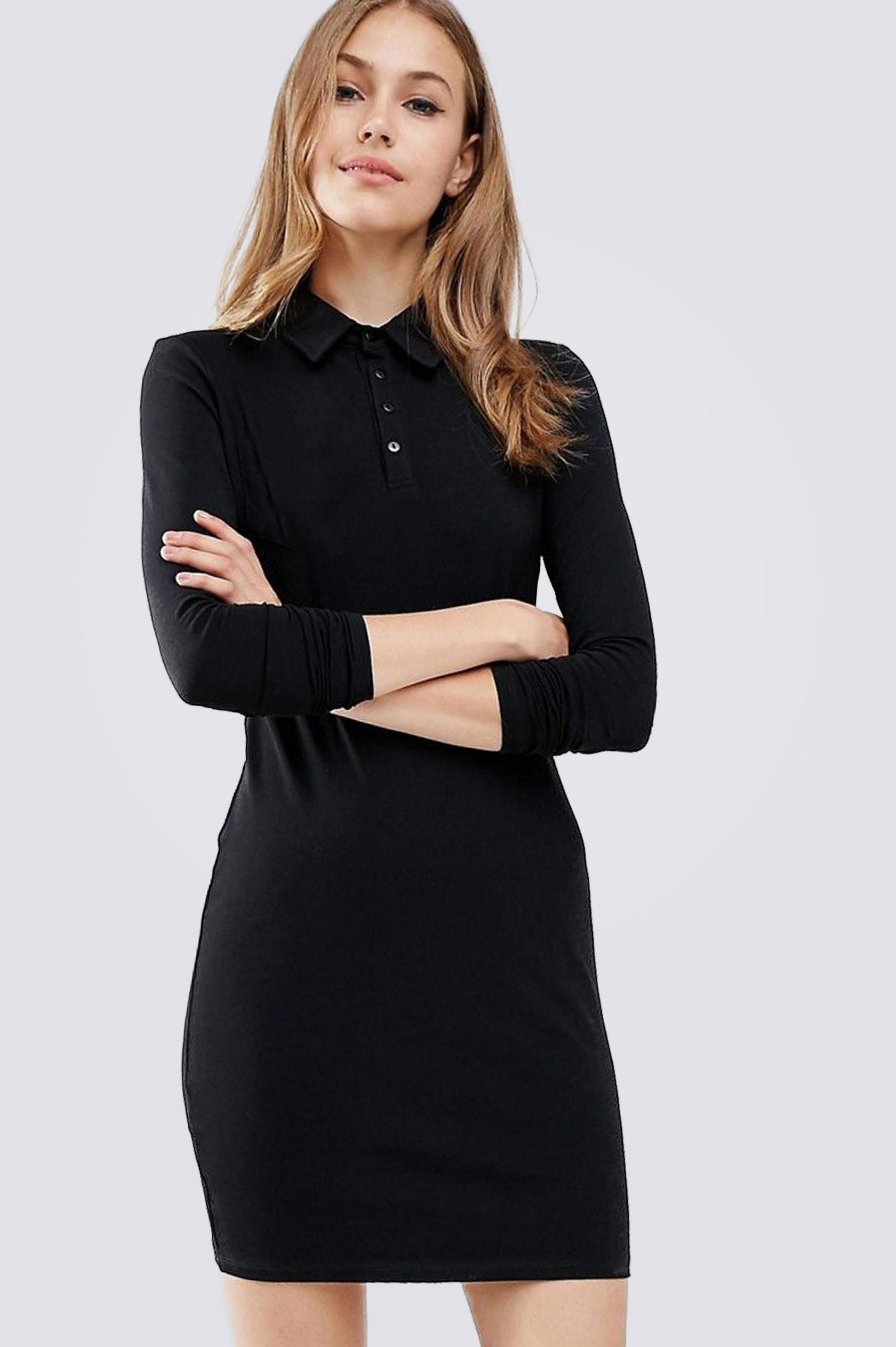 Платье поло ES.design темно-синее EGOStyle