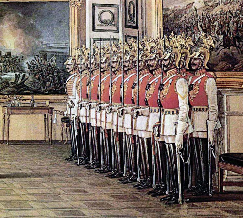 солдаты гвардейских полков