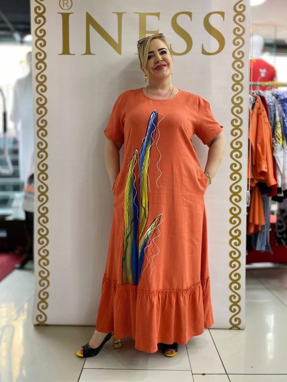 Элитное летнее платье большого размера