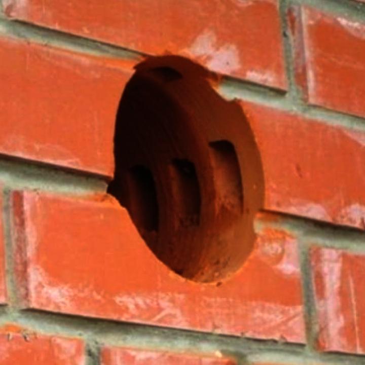 сверление больших отверстий в кирпичной стене