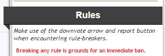 Regel für Reddit