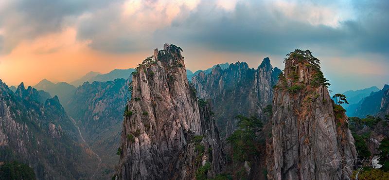 В горах Китая, Желтые горы